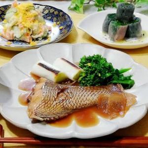 ☆鯛の煮つけ&ポテトサラダ☆