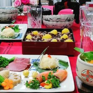 元日の晩ご飯☆ワンプレートおせち&茶碗蒸し☆