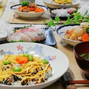リメイク☆ひじきの煮ものでちらし寿司&肉じゃが☆