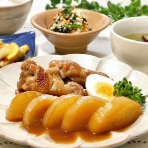 ♪鶏手羽元と大根の煮もの&長ねぎのレモンつゆマリネ♪
