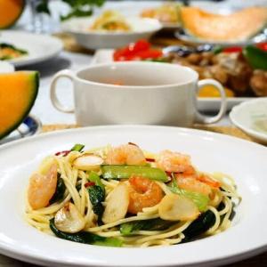 ♪小松菜のスパゲティ&チキンイタリアン焼き♪