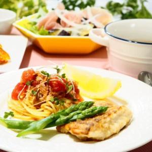 ♪トマトとツナのパスタ&白身魚のムニエル♪