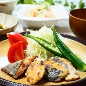 ご飯がおいしい☆あじの竜田揚げ&ポテトサラダ☆
