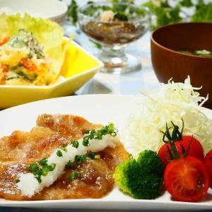 ☆おろしたっぷり♪豚肉のしょうが焼き&ポテトサラダ☆