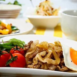 ☆ポーク焼き肉&なすとウインナーのカレーマヨ炒め☆