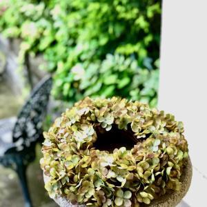 アンティーク紫陽花リース