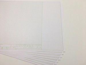 製図用紙が出来上がってきました。