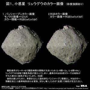 はやぶさ2で見る、小惑星リュウグウのカラー画像