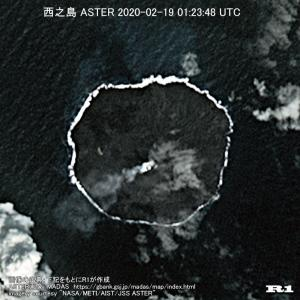 西之島 ASTER 2020-02-19 01:23:48 UTC