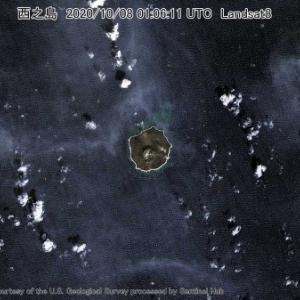 西之島 2020/10/08 01:06:11 UTC Landsat8
