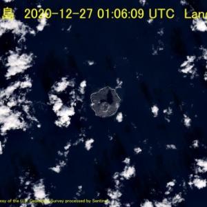 西之島 2020-12-27 01:06:09 UTC Landsat8