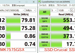ノートパソコンのHDDをSSDに換装