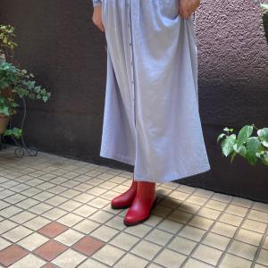 赤のレインブーツが1番しっくりさん☆イタリア生まれのレインシューズ...