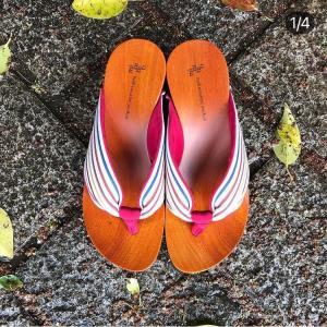 水鳥-mizutori-ここちよい下駄 鼻緒のやさしい感触と足裏にぴったりフィット...