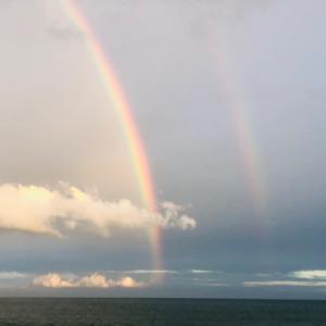 虹を見た瞬間