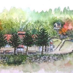 秋の山小屋