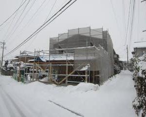 この時は、2週連続の大雪に見舞われました ・・・ Y様邸新築施工の模様