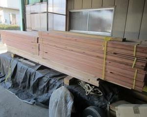 軒天は杉板材で仕上げます ・・・ 木工事 Y様邸新築工事No.33