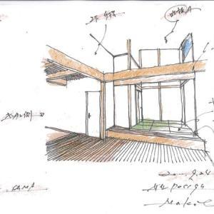 プレゼン用 手描きパース ・・・ 注文住宅の設計プラン