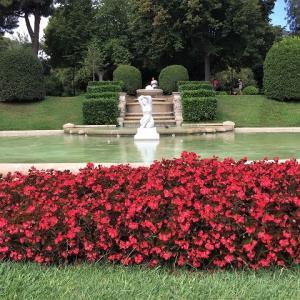 ペドラルベス宮の庭でピクニック