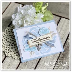 お祝いのカードを手作り。花束を作るように。