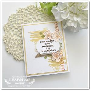 花満開のカードは、今だけお得なパンチも使って。