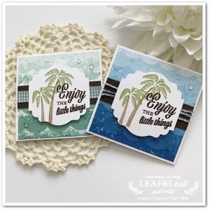 【どっちが好き?】夏にぴったりなスタンプで、ミニサイズのありがとうカード