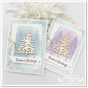 【好きな色のミストを作って】静かな冬の森をイメージした大人クリスマスカード