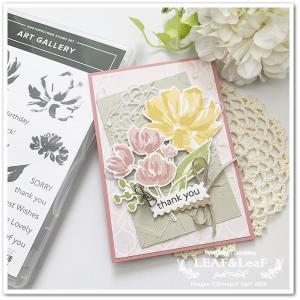 【新製品で】ありがとうの花束を、スタンプで春らしく彩って。