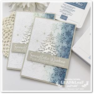 【木が主役】凸凹模様にインキングして、クリスマスカードを手作り
