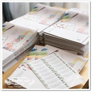 【コツコツと】今月のプレゼント、新カタログ&手作りカードを着々と発送しています!