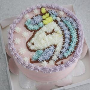 きらり、ユニコーン ケーキ