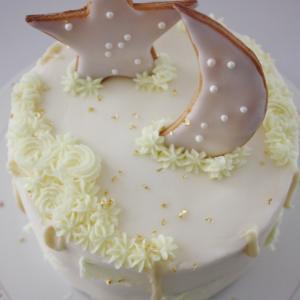 ハーフバースデーのお星さまケーキ