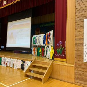 上田市依田窪南部中学校で講演会させてもらいました。