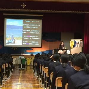 岡谷西部中学校で講演会&中学生の時の担任の吉岡先生に24年ぶりに再会