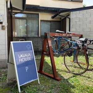 「LALALA HOUSE」(諏訪市ー高島)スワヤツサイクルスタンド★NO.77★設置♫