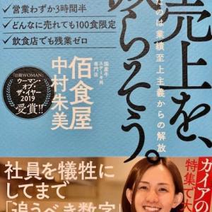 話題の本、『売り上げを減らそう。』(by 中村朱美)を読みました!