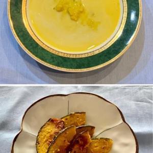 カボチャ三昧〜冷製スープ、ソテー、野菜スープ、どれも美味!