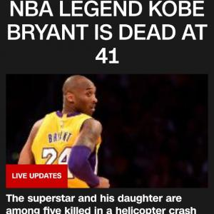 Kobe Bryant がヘリのクラッシュで逝去