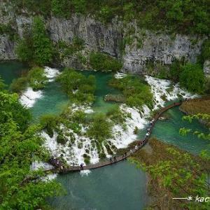 ガイドブックで見た風景【世界遺産 プリトヴィツェ湖群国立公園】★クロアチア