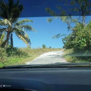 雨が降ったら行けない展望台から村を見渡す★サイパン&ロタ島