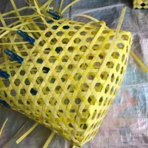 さらっと、さる流交色鉄線編み籠の作り方(1)