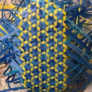 さらっと、さる流交色鉄線編み籠の作り方(2)