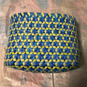 さらっと、さる流交色鉄線編み籠の作り方(4)