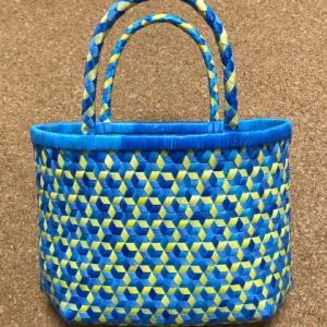 さらっと、さる流交色鉄線編み籠の作り方(最終回)
