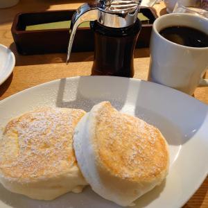 今朝はパンケーキ