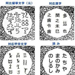 阿比留草文字(神代文字)の読み方