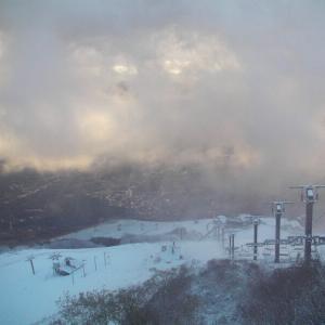 スキー場上部は雪!