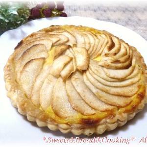リンゴのカスタードパイ