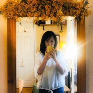 かんたんDIY*鏡をドライフラワー仕様にする方法